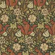 William Morris & Co Tapet Compton Brown/Orange