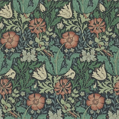 William Morris & Co Tapet Compton Indigo/Russet