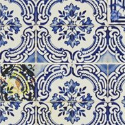 Christian Lacroix Tapet Patio Cobalt