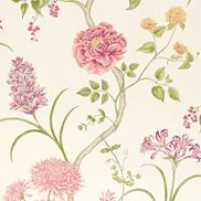 Sanderson Tapet Summer Tree Cream/Chintz