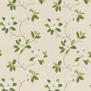 Sanderson Tyg Sweet Bay Ivory/Green