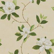 Sanderson Tapet Sweet Bay Ivory/Green