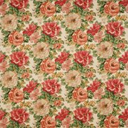 Sanderson Tyg Midsummer Rose Antique Red/Green