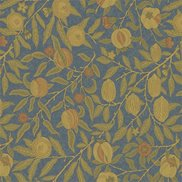 William Morris & Co Tyg Fruit Blue/Thyme