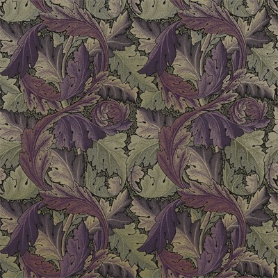 William Morris & Co Tyg Acanthus Tapestry Grape/Heather