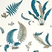 GP & J Baker Tapet Ferns Indigo