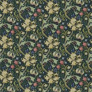 William Morris & Co Tyg Golden Lily Midnight/Green