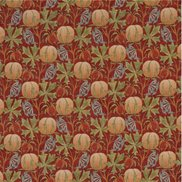 GP & J Baker Tyg Pumpkins Red/Green