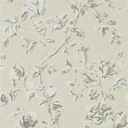 Sanderson Tapet Magnolia & Pomegranate Ivory/Charcoal