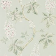 Sanderson Tapet Chestnut Tree Seaspray/Peony