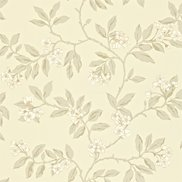 Sanderson Tapet Blossom Bough Linen/Steel