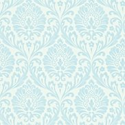 Sanderson Tapet Ashby Damask China blue/Ivory