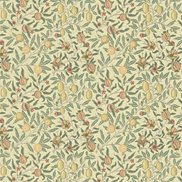 William Morris & Co Tyg Fruit Minor Ivory/Teal