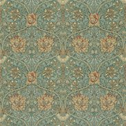 William Morris & Co Tyg Honeysuckle & Tulip Privet/Honeycombe