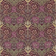 William Morris & Co Tyg Honeysuckle & Tulip Wine/Bayleaf