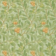 William Morris & Co Tapet Arbutus Green/Terracotta
