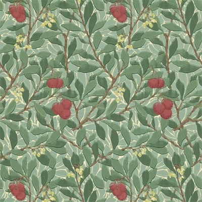 William Morris & Co Tapet Arbutus Dark Green/Red