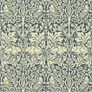 William Morris & Co Tapet Brer Rabbit Indigo/Vellum