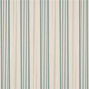 Mulberry Home Tapet Narrow Ticking Stripe Ivory/Aqua