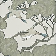 Mulberry Home Tapet Flying Ducks Silver/Taupe
